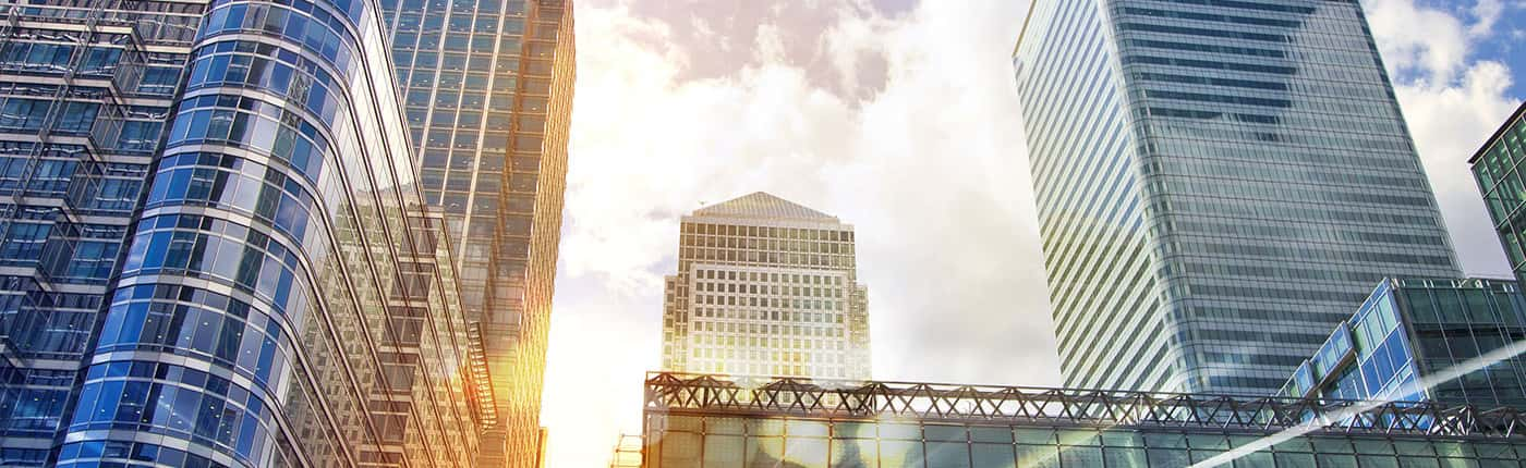 Image of London Sky Scrapers on Sunny Day