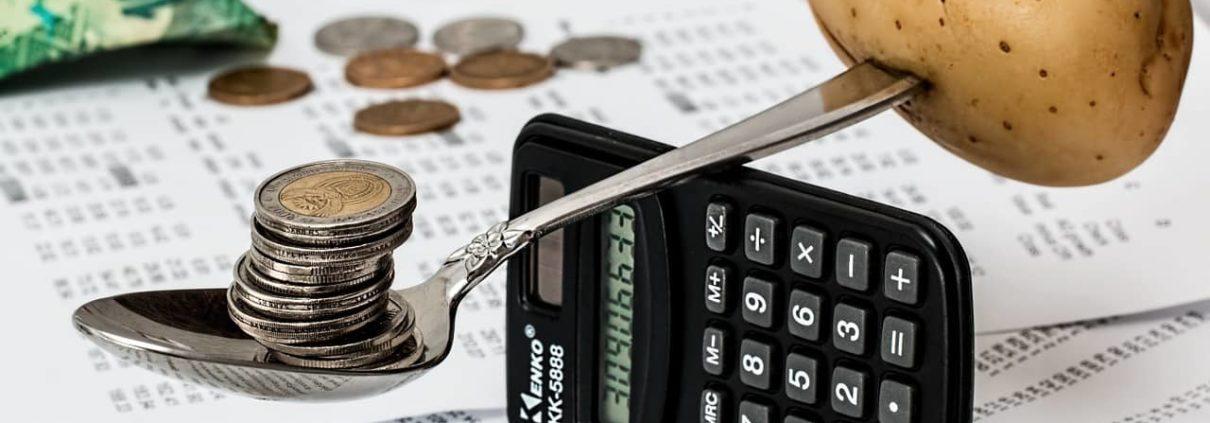 image of calculator balancing items