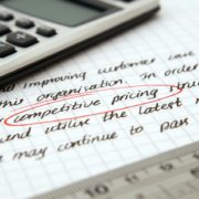 alternative finance calculator and document describing competitive pricing
